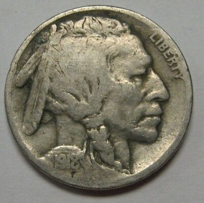 1918 Buffalo Nickel Grading in the GOOD Range Great Coin For Your Set   DUTCH