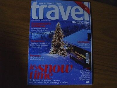 Times Travel. SKI SPECIAL.Caribbean.LOS ANGELES. BARCELONA. INDIA.  DEC 2016.