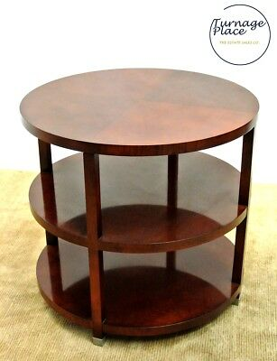 Baker Furniture Round Three Tier Coffee Table