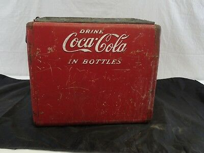 Vintage Red Coca Cola Cooler By Cavalier Old Rusty Ready For Use>>>