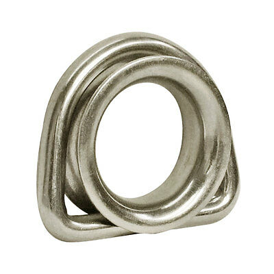 316 Stainless Steel Marine Boat 5/16'' D Ring Thimble Round Shave Wire Rope