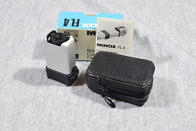 Mint, Minox Fl4 Flash In Original Box With Case And Flashcubes