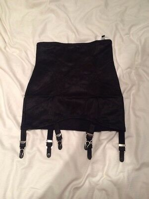 6 Strap Crotchless Girdle Size Small With Six Metal Suspender Ends