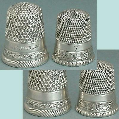 2 Antique American Sterling Silver Thimbles * Circa 1890-1900s