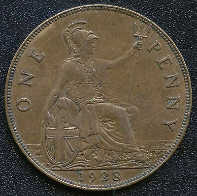 1928 Great Britain 1 Penny Coin