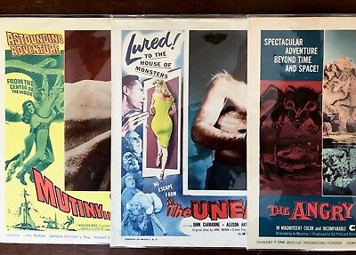 Lot Of 3  Great Sci Fi Horror  Lobby Cards Vintage 1950's 1960's