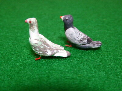 Doll House Miniature 1:12 Scale Pigeon Bird x 2
