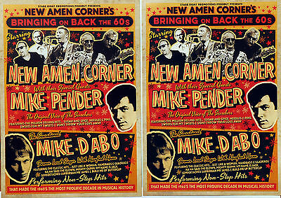 New Amen Corner 2017 Tour Flyers X 3 - Mike Pender Mike D'abo