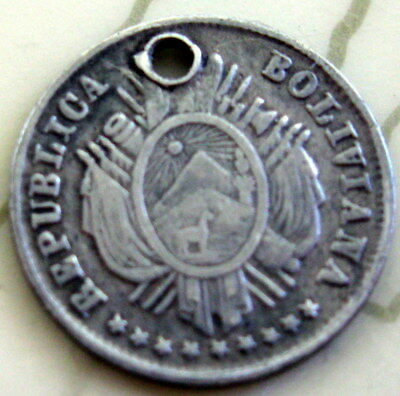 Coin Bolivia 5C 1878?a  Inverted T14
