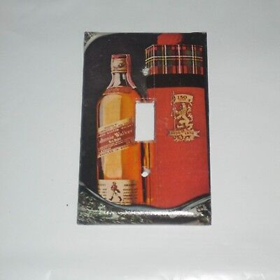 VINTAGE STYLE JOHNNY WALKER RED LABEL Whisky Bottle LIGHT SWITCH COVER PLATE