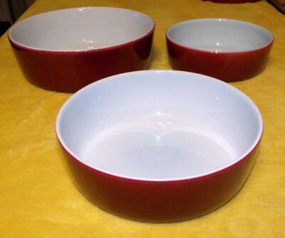 Rorstrand Sweden Gratina Pattern - 2/3 Graduated Casserole / Gratin Dishes (37)
