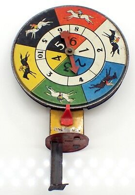 Antique Horse Racing Spinning Toy used in World War 1 by Soldiers in Trenches
