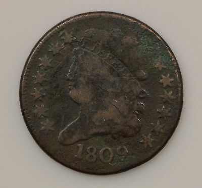 1809 Classic Head *Normal Date* Half Cent *G92