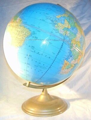 Vintage George F. Cram Co. Imperial World Globe Brass Base