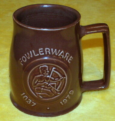Fowler Ware Australian Pottery 142 Years Production Tankard - Year Of The Child