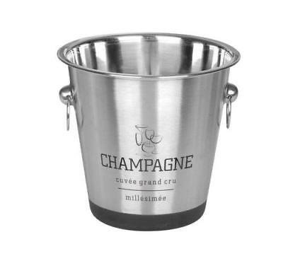 French Design Stainless Steel Ice Utility Bucket Wine Beer Champagne Cooler
