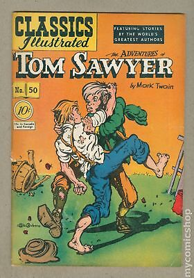 Classics Illustrated 050 Adventures of Tom Sawyer 1A 1948 VG 4.0