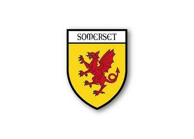Sticker county shield car vinyl souvenir decal flag caravan crest somerset