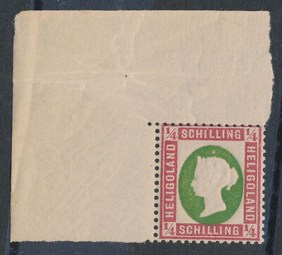 HELIGOLAND 1869 QV Embossed ¼sch MNH ** EXPERTISED!