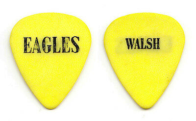 Eagles Joe Walsh Yellow Guitar Pick - 1994 Hell Freezes Over Tour