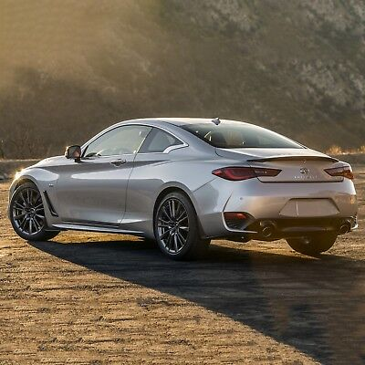 Spoiler, PAINTED Wing Flush Mount Factory Style For: INFINITI Q60 2017-2018