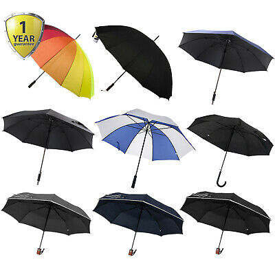 Golf Umbrella Large Unisex Canopy Shelter Rain Sun Strong Brolley 130cm Diameter