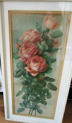 Antique De Longpre Print Of Roses