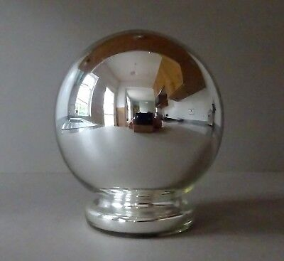 Original Antique Mercury Mirrored Glass Witch Ball -  Kugel Gazing Ball