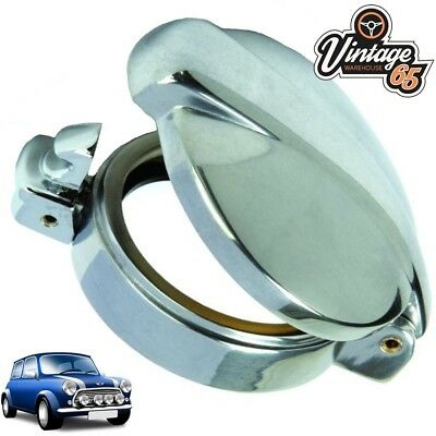 Classic Mini Cooper Fuel Cap Petrol Filler Neck Cover Chrome Flip Monza Style