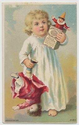 James Pyle's Pearline Washing Compound - Little Girl with Doll & Clown 1891