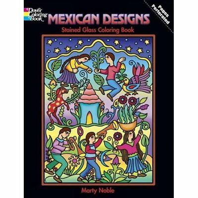 Mexican Designs Stained Glass Coloring Book Dover Stai