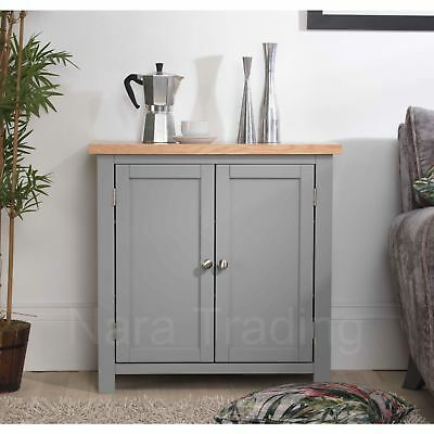 Richmond storage hall cupboard grey painted solid wood furniture