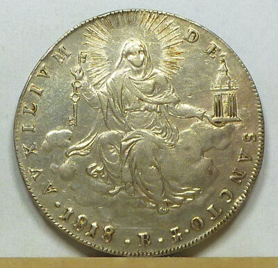 Italy Papal States Scudo 1818-B Choice Extremely Fine