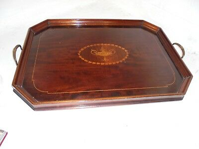 Quality Antique inlaid Mahogany  Tray    ref  4460