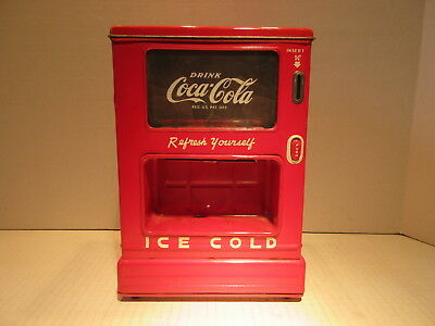 1950's Coca Cola Coin Operated Soda Dispenser Bank  Line Mar Toys