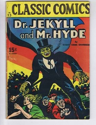 Classic Comics 13 (GVG) HRN 20 Long Island 1944 Dr. Jekyll and Mr. Hyde (c#17551