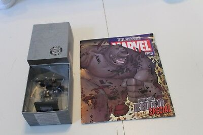 Classic Eaglemoss Marvel Figurine Collection The Rhino Special MAGAZINE Issue 7