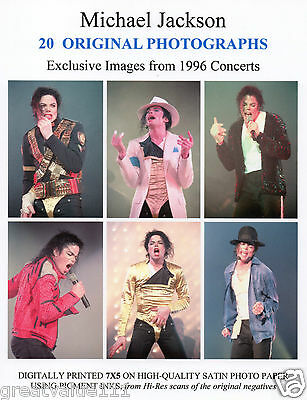 Michael Jackson Photos Set Of 20  Unreleased 7Inches X 5 Colour 1996 Unique Gems