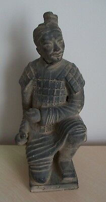 A Terracotta Warrior Statue With Impressed Marks To Base