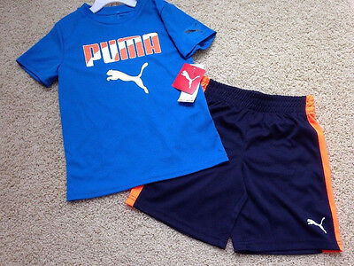 NWT $42 MSRP Boys Size 5 PUMA Short Set Outfit