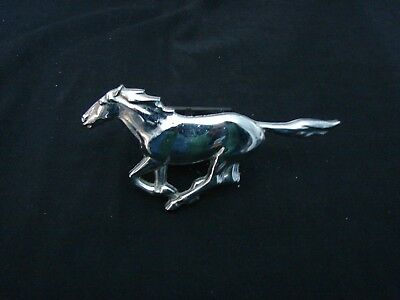 vintage Ford Mustang chrome logo with attachment 6 inches long