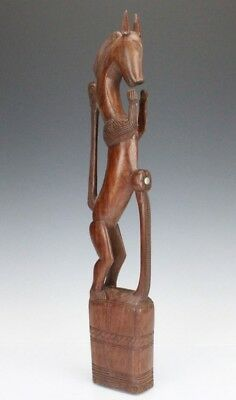 Vintage Trobriand Islands Papua New Guinea Hand Carved Wood Horse Sculpture SLG