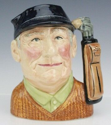 Retired Signed Royal Doulton Golfer D6623 Large Porcelain Character Toby Jug Mug