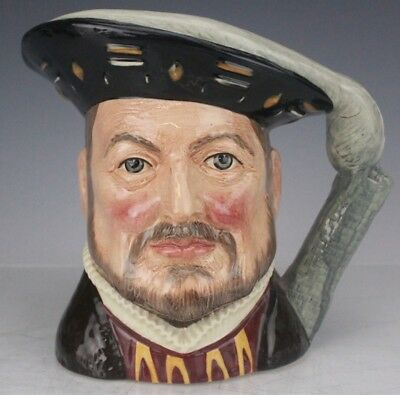 Retired Royal Doulton Henry VIII D6642 Large Hand Painted Character Toby Mug Jug