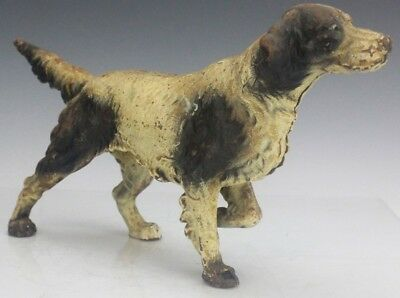 Antique Cast Iron English Setter K9 Sporting Hunting Dog Sculpture Doorstop FTL