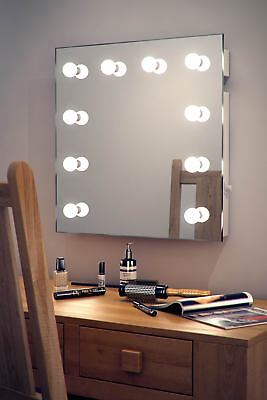 Diamond X Wallmount Hollywood Makeup Mirror with Dimmable LED k89-E69