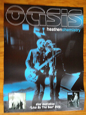 OASIS heathen Chemistry 18x24 official record store display promo poster Britpop