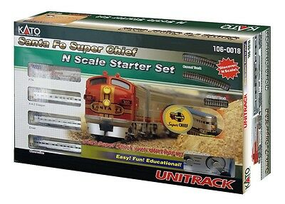 Kato N Scale Santa Fe Super Chief Starter Electric Train Set KAT1060018