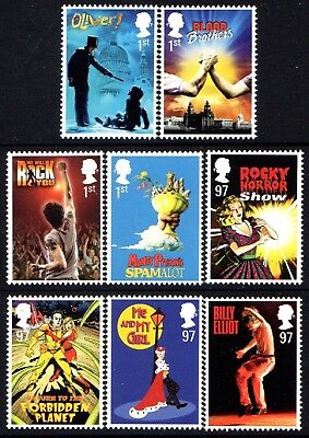 """Gb. 2011. """"musicals"""". 1 Set Of 8 Stamps. Mnh."""