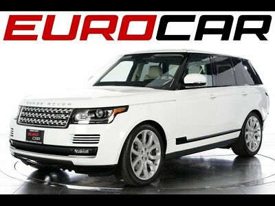 2015 Land Rover Range Rover Supercharged 2015 Land Rover Range Rover Supercharged - STUNNING WHITE ON WHITE